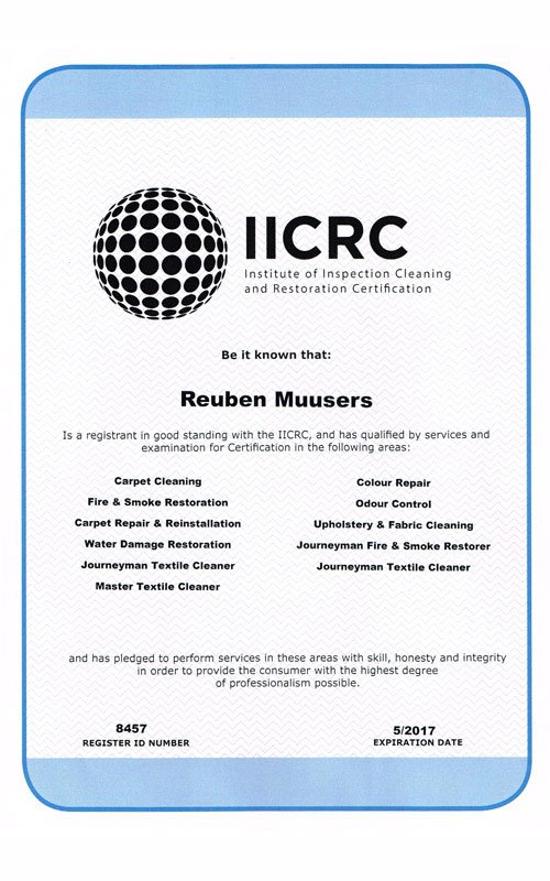 IICRC-Certified-Technician