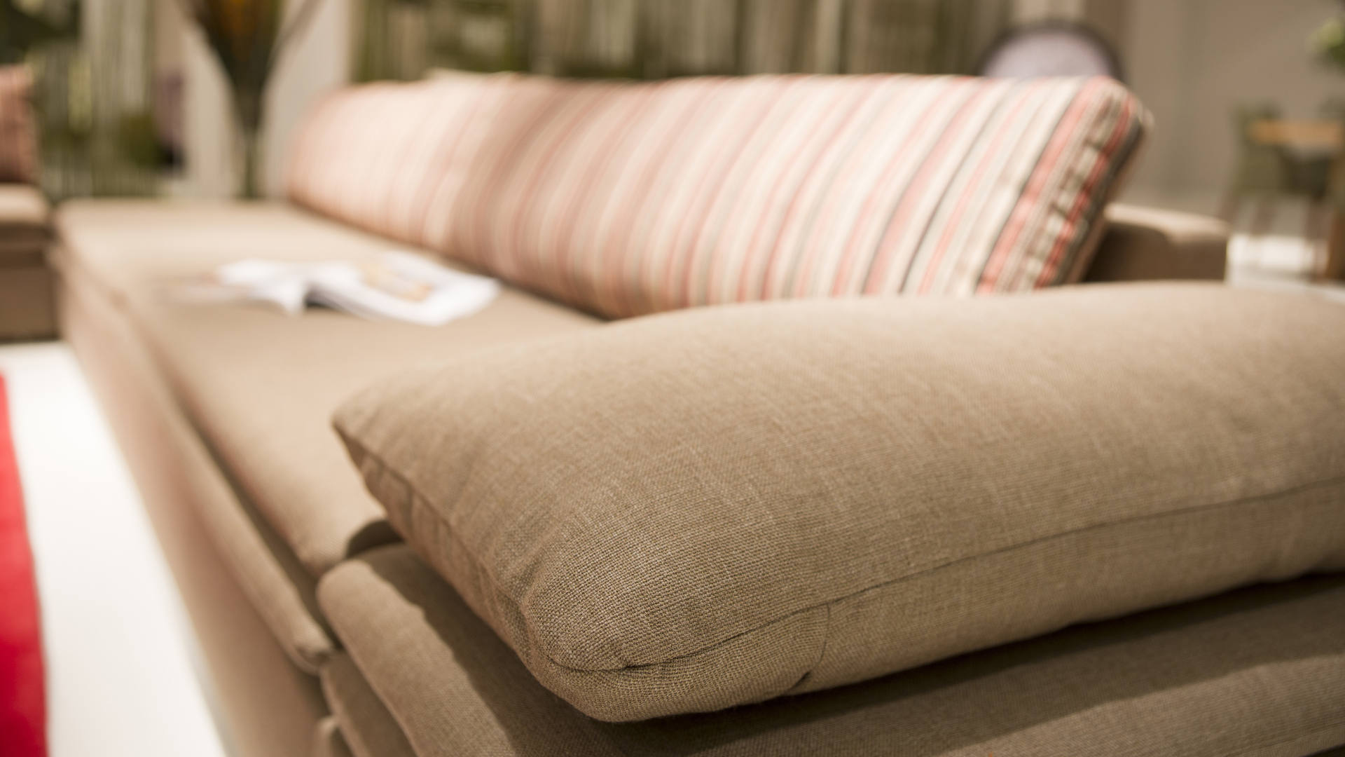 A sofa cleaned by professional upholstery cleaner